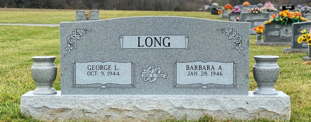 Headstone for George and Barbara Long