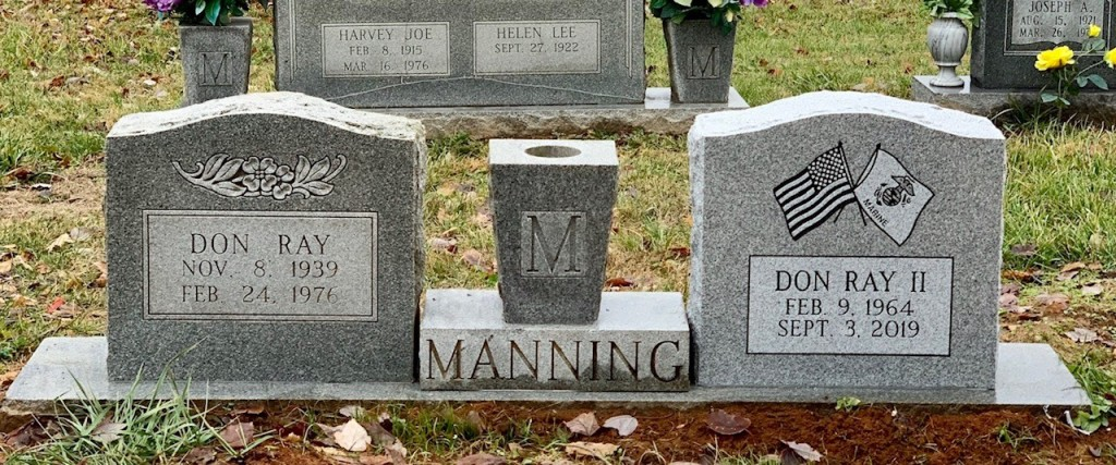 Headstone for the Manning family