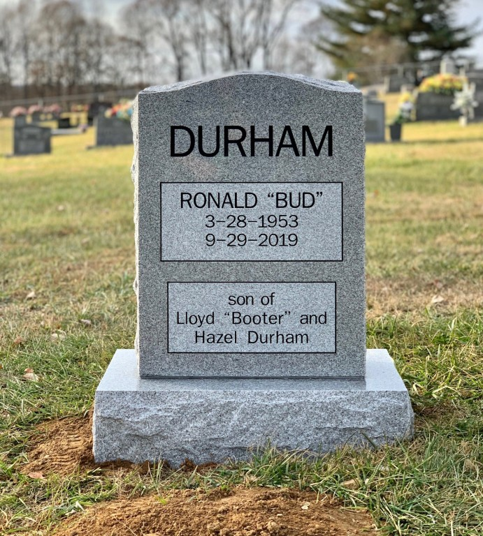 "Headstone for Ronald ""Bud"" Durham"