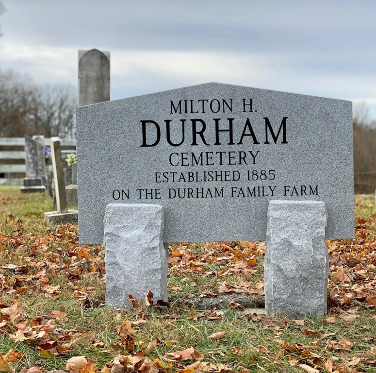 Sign for Durham Cemetery