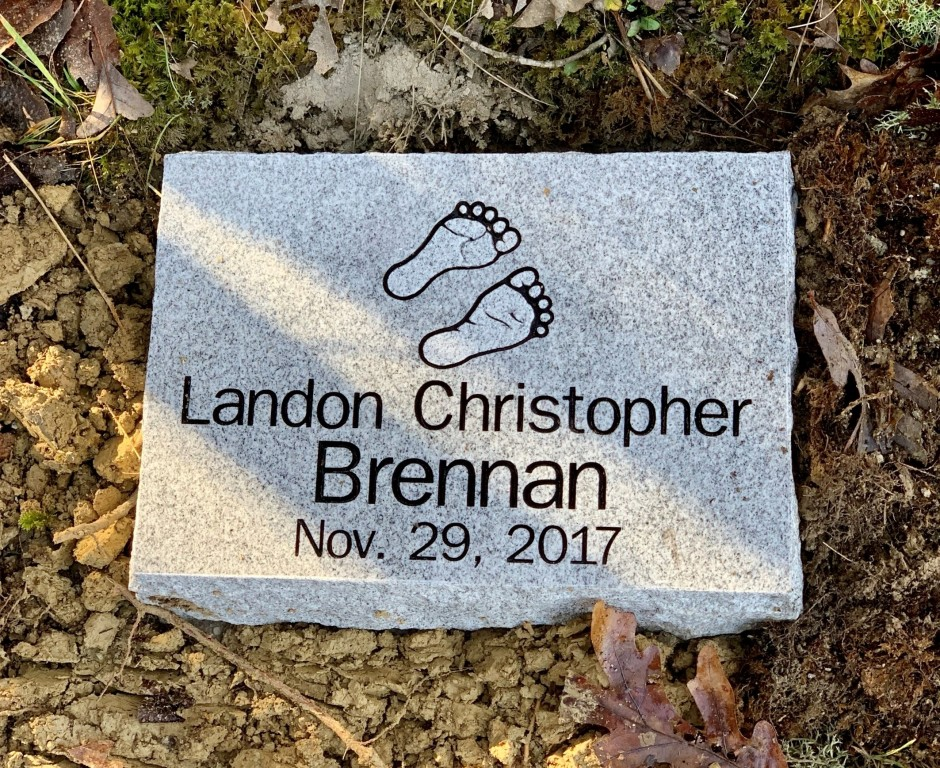 Flat marker for Landon Brennan