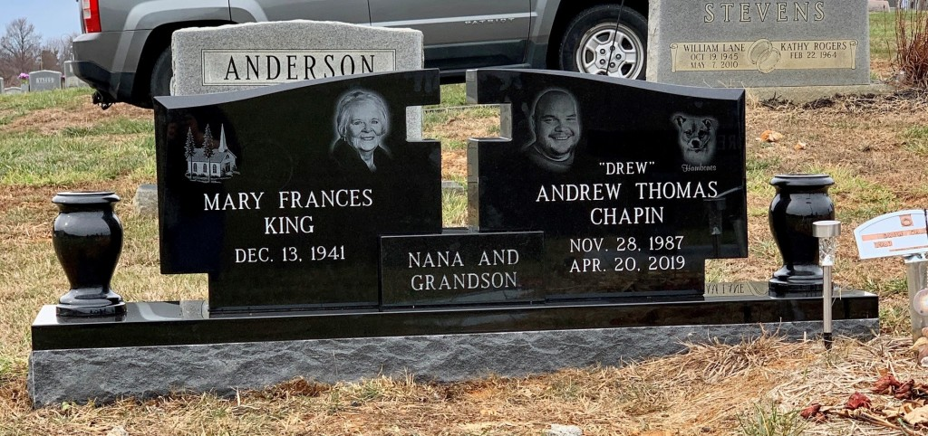 Headstone for Mary King and Drew Chapin