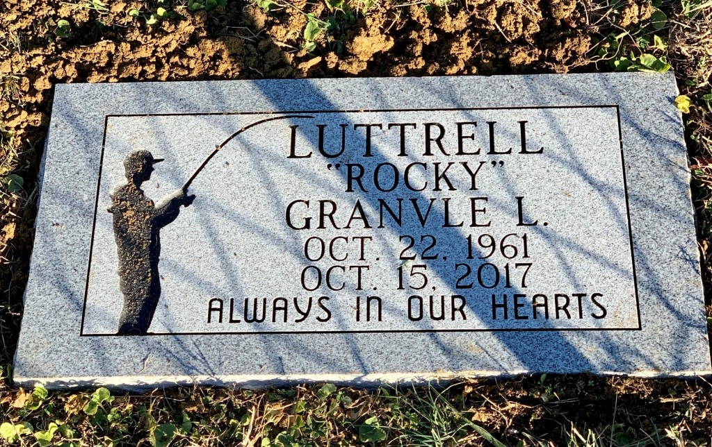 FLat granite marker for Rocky Luttrell