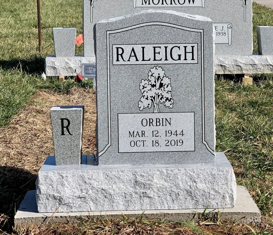 Headstone for Orbin Raleigh