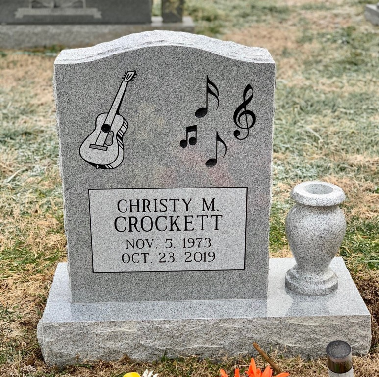 Headstone for Christy Crockett