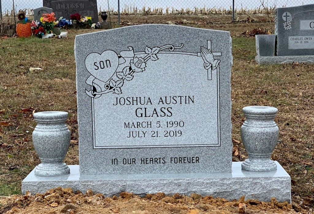 Headstone for Joshua Austin Glass