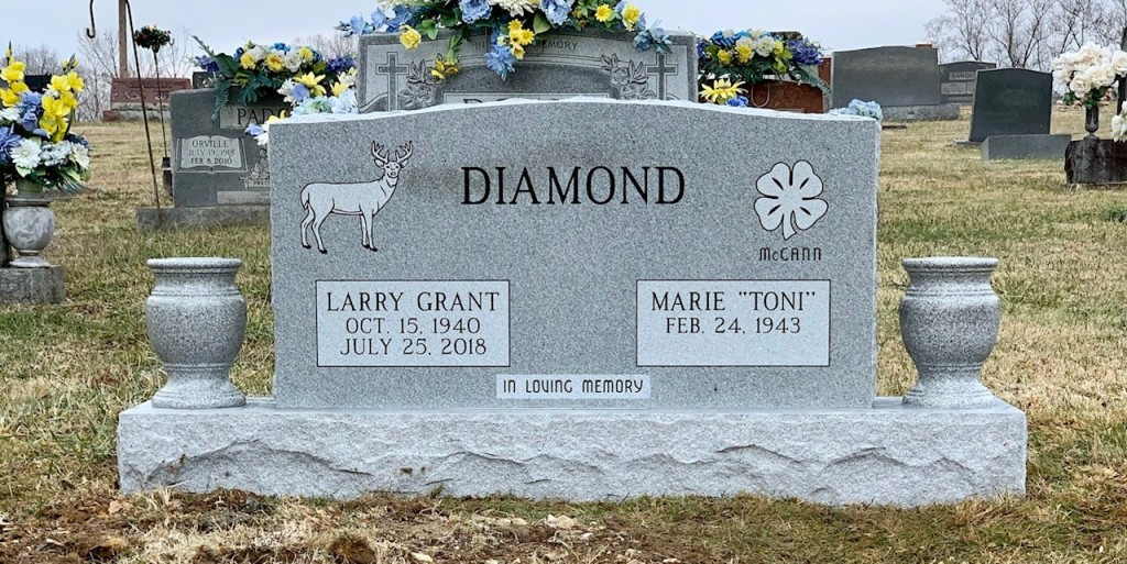 "Headstone for Larry Grant and Marie ""Toni"" Diamond"