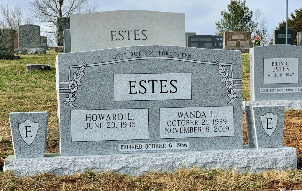 Headstone for Howard and Wanda Estes