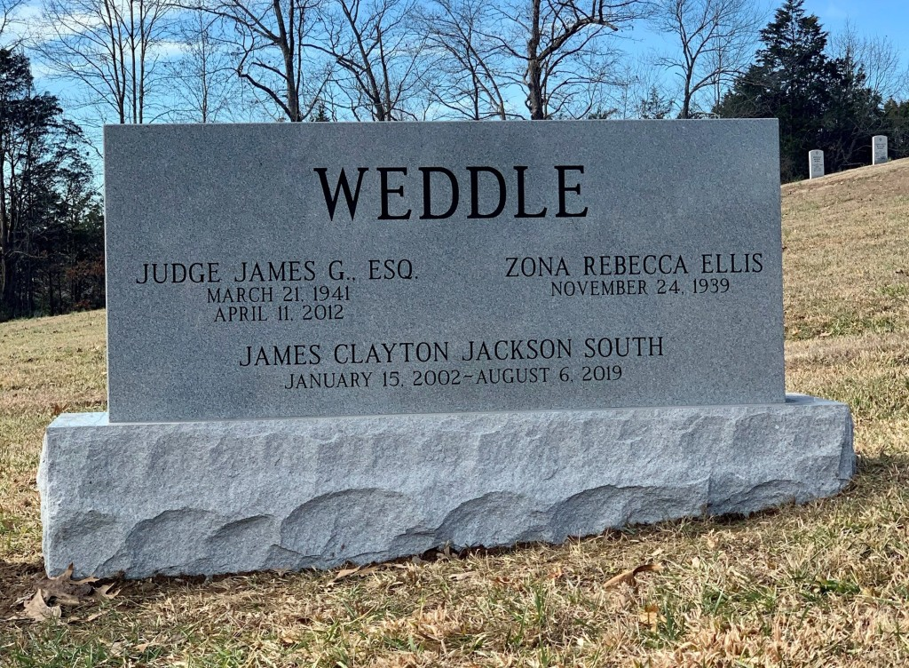 Weddle triple headstone