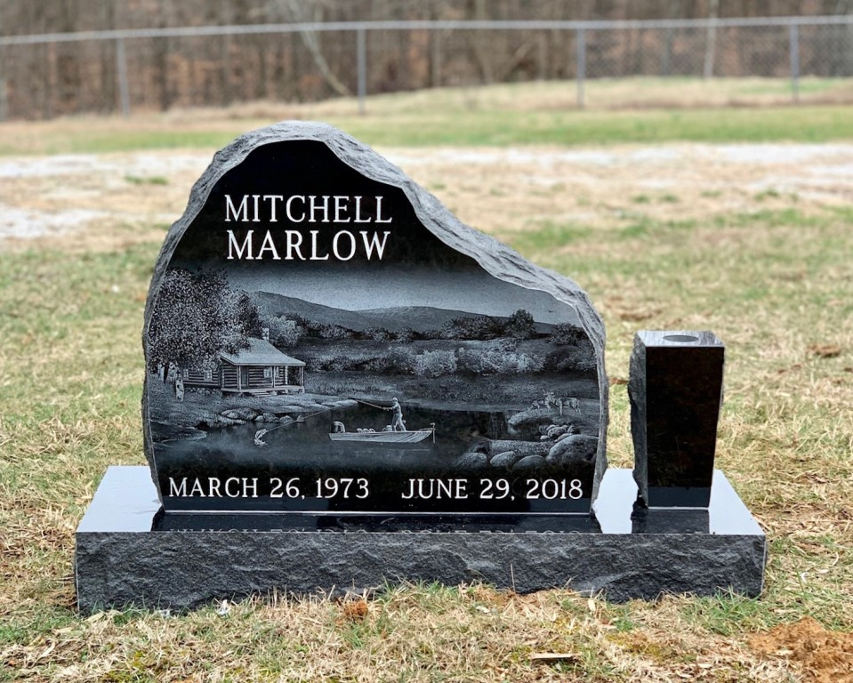 Headstone for Mitchell Marlow