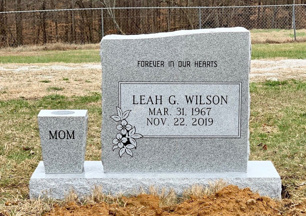 Headstone for Leah Wilson