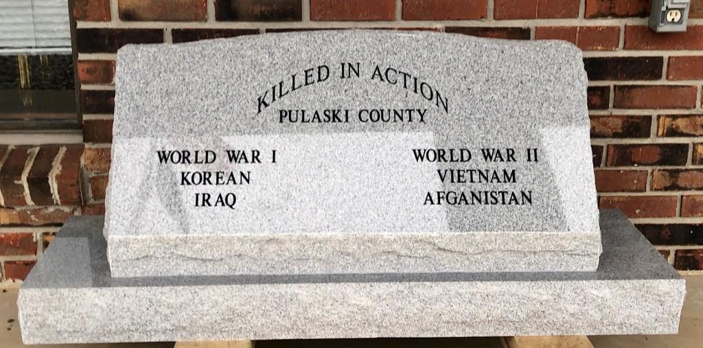 Veteran memorial slant