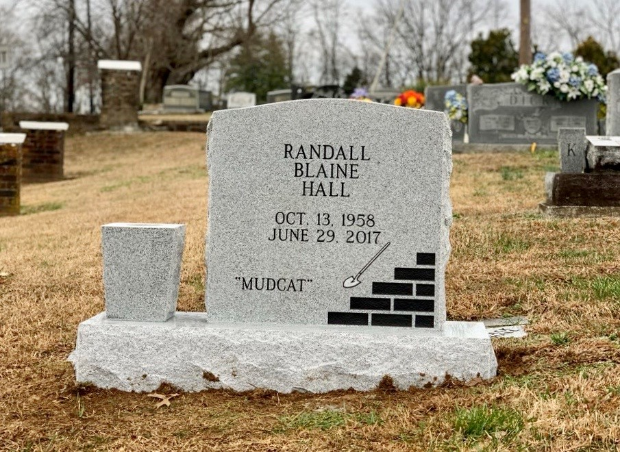 Headstone for Randall Blaine Hall