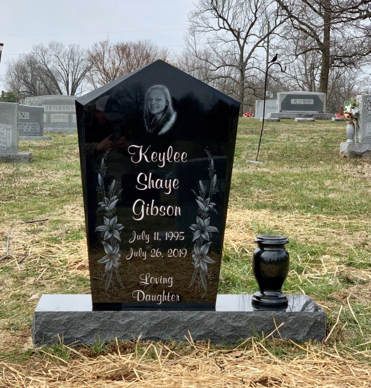 Headstone for Keylee Gibson