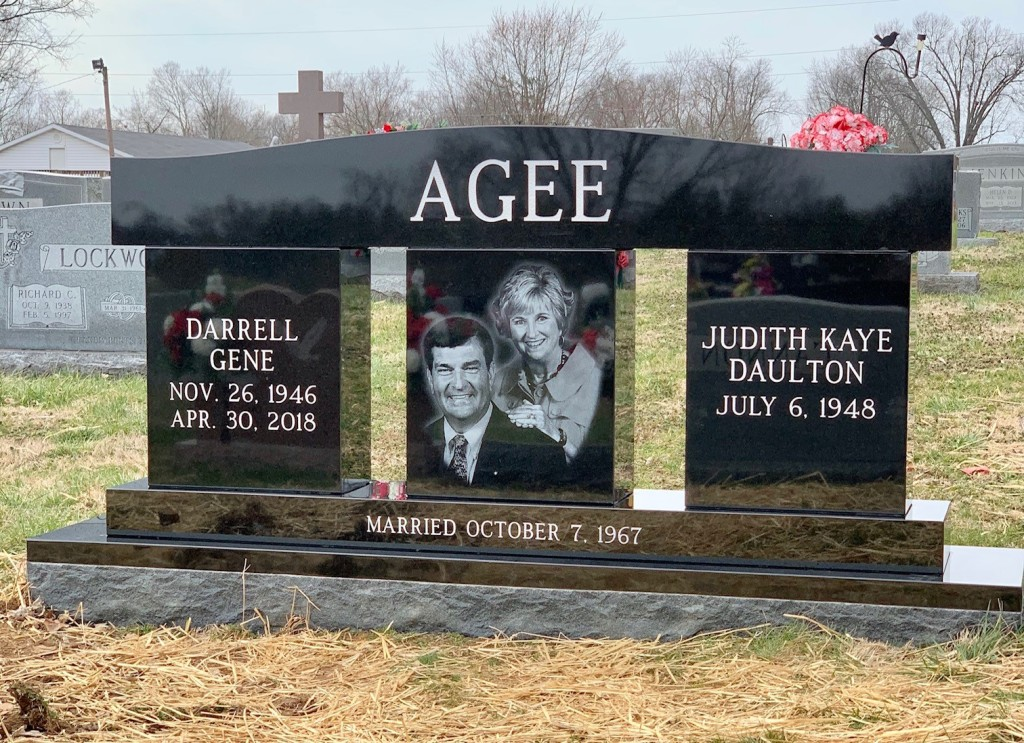 Agee custom headstone