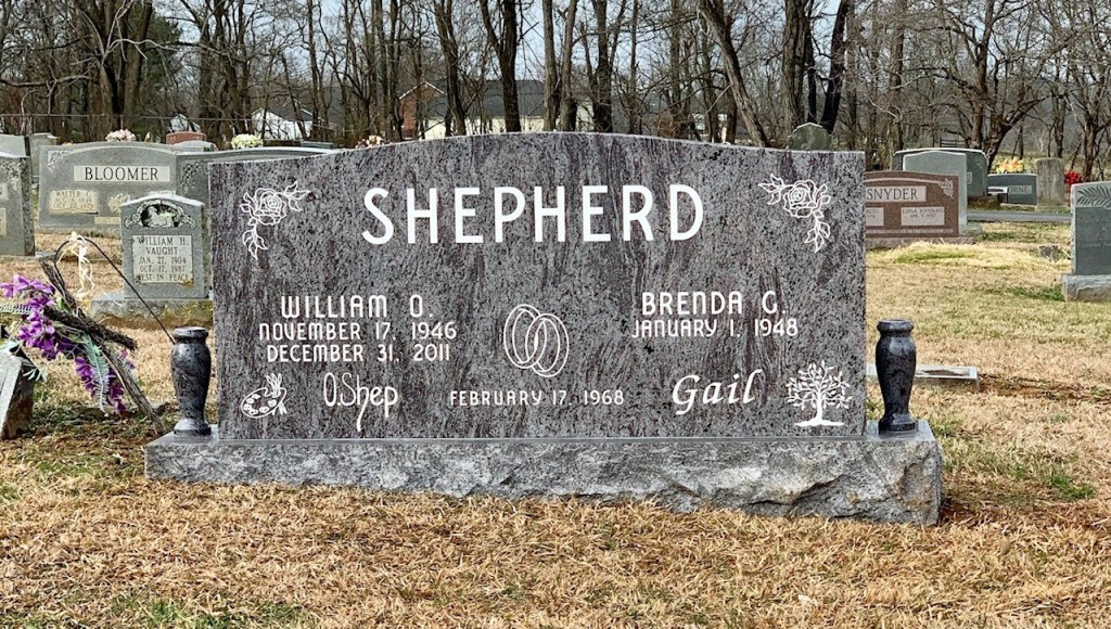 Headstone for William and Brenda Shepherd
