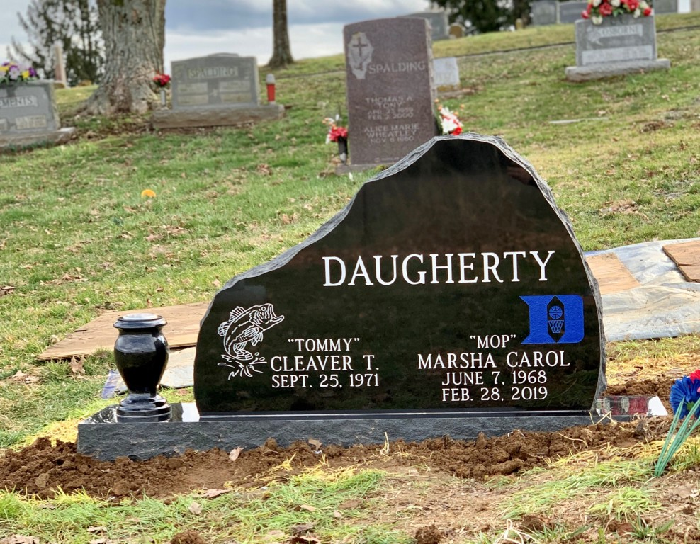 Headstone for Tommy and Marsha Daugherty