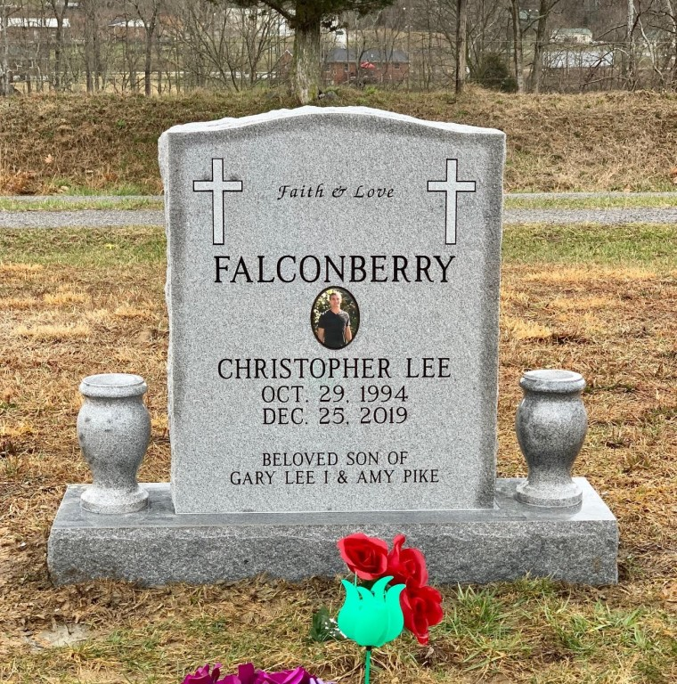 Headstone for Christopher Lee Falconberry
