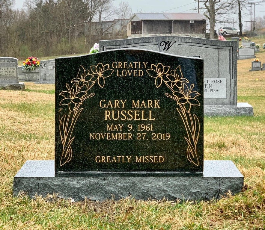 Headstone for Gary Mark Russell