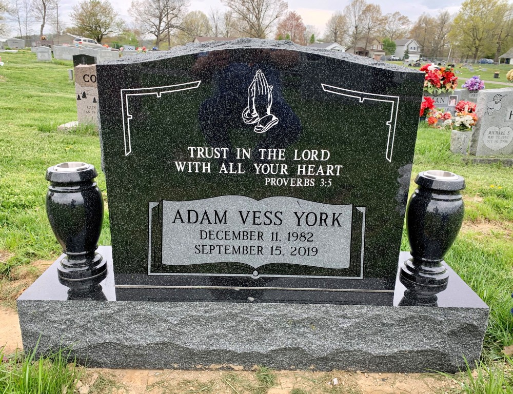 Headstone for Adam York