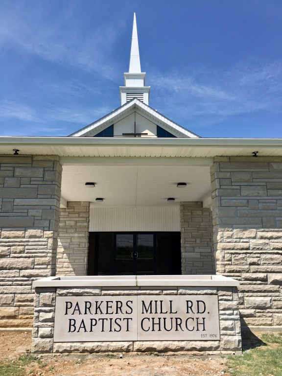 Sign for Parkers Mill Road Baptist Church