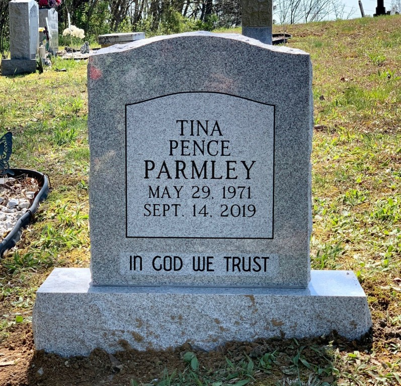 Headstone for Tina Parmley