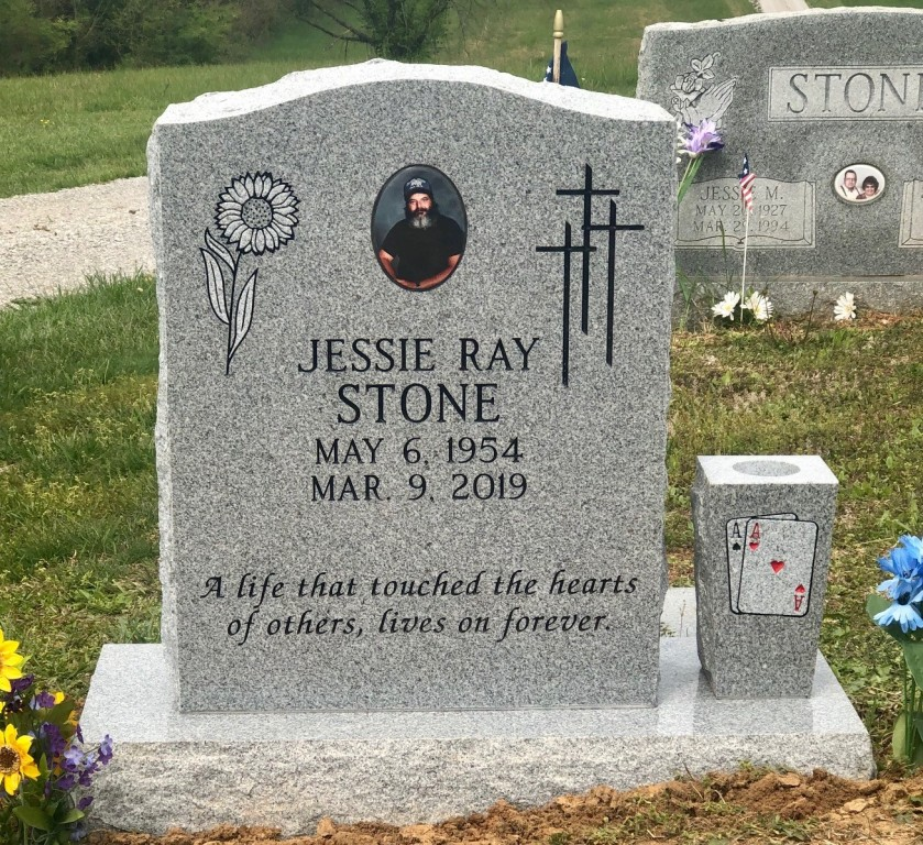 Headstone for Jessie Ray Stone