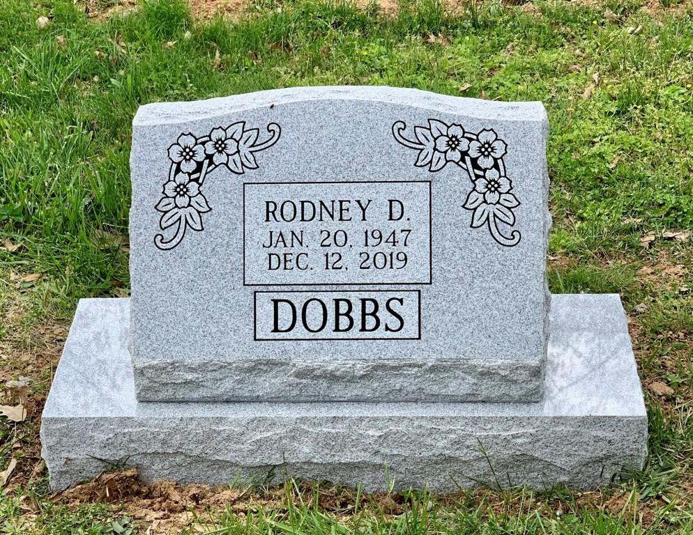 Slant marker for Rodney Dobbs