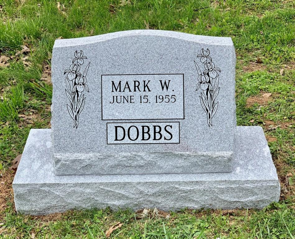 Slant marker for Mark Dobbs