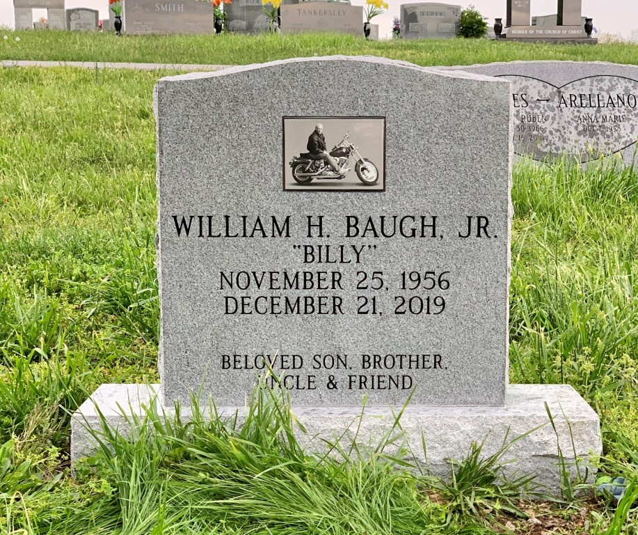 Headstone for Billy Baugh