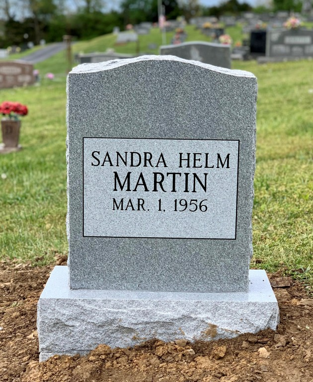 Headstone for Sandra Martin