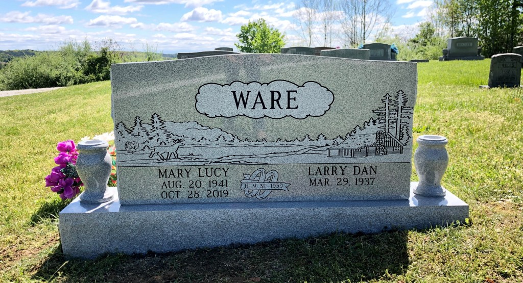 Headstone for Larry Dan and Mary Lucy Ware