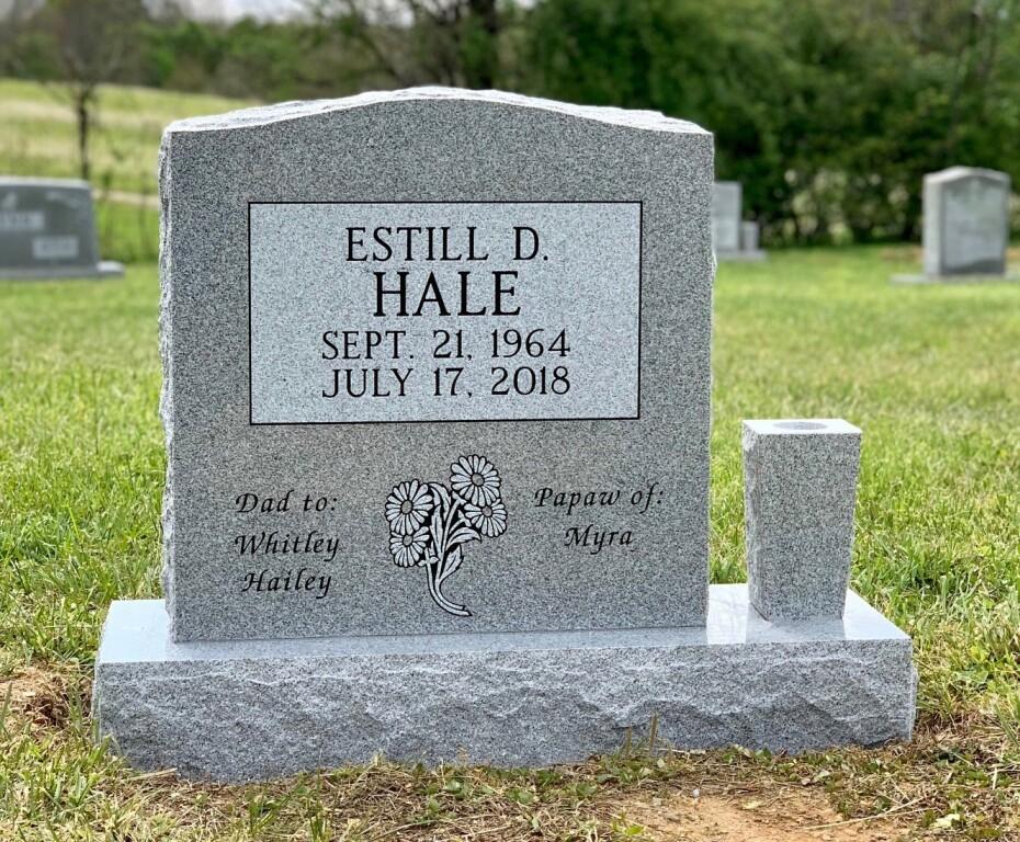 Headstone for Estill Hale