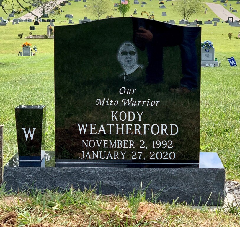 Headstone for Kody Weatherford