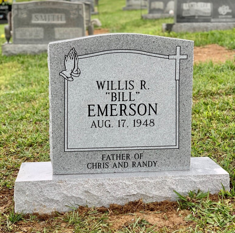 Headstone for Bill Emerson