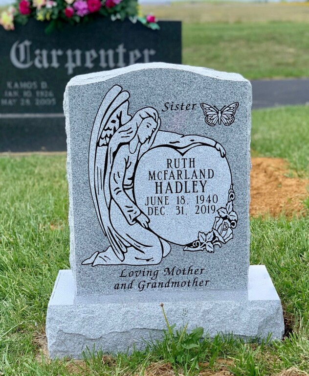 Headstone for Ruth McFarland Hadley