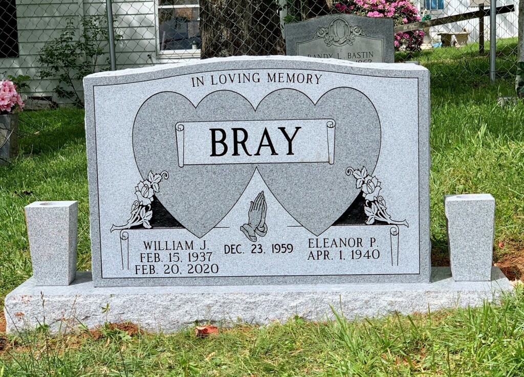 Headstone for William and Eleanor Bray