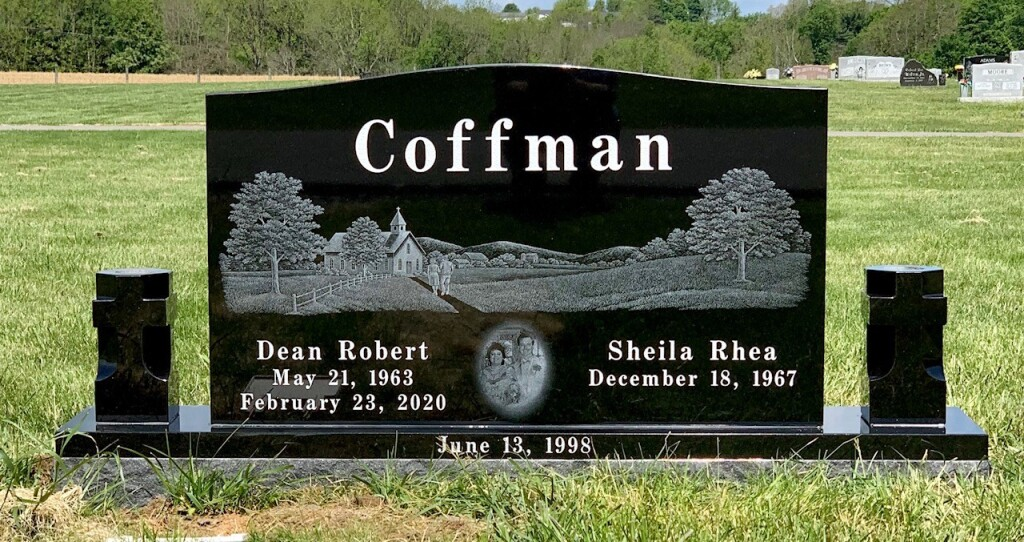 Headstone for Dean and Sheila Coffman