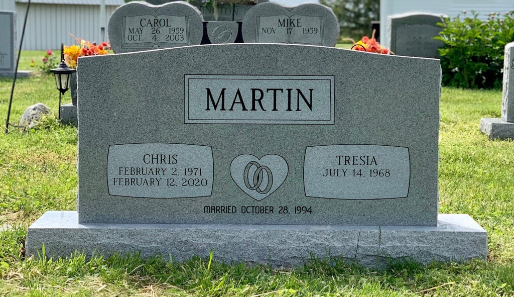 Headstone for Chris and Tresia Martin