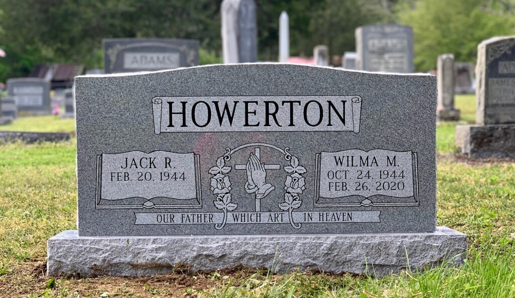 Headstone for Jack and Wilma Howerton