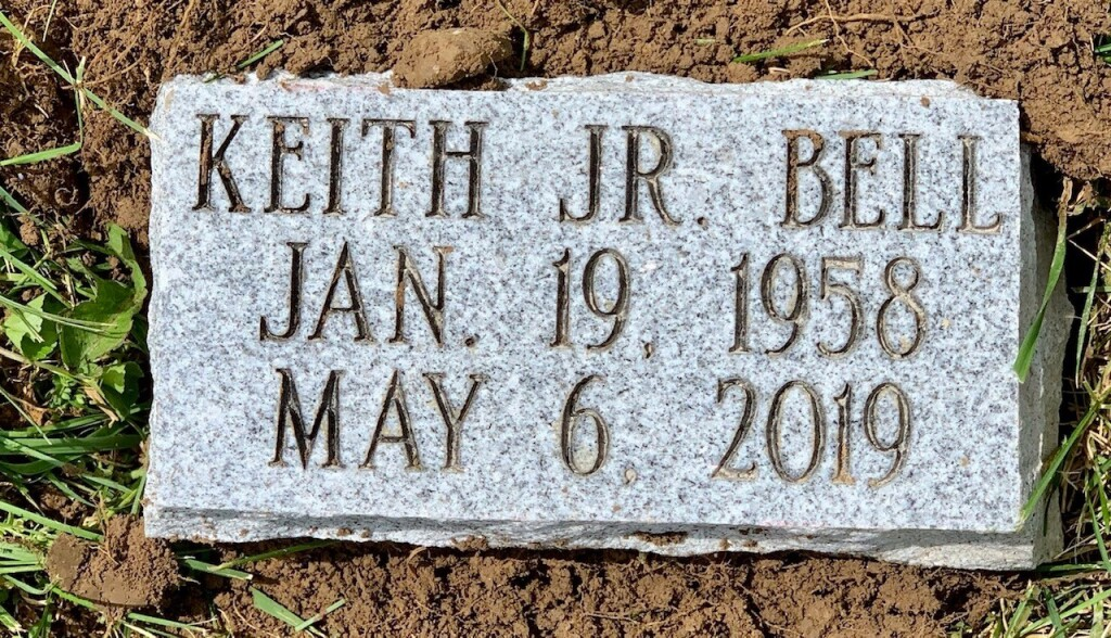 4x8 marker for Keith Bell