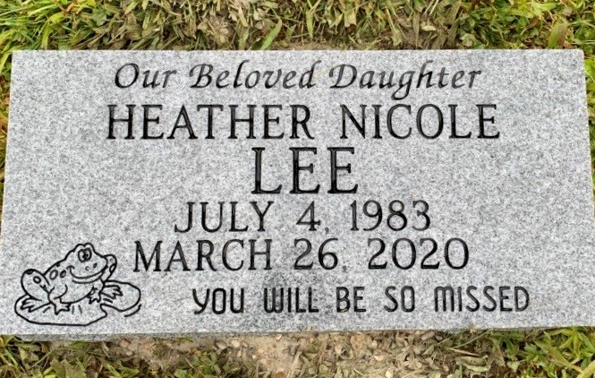 Flat marker for Heather Nicole Lee