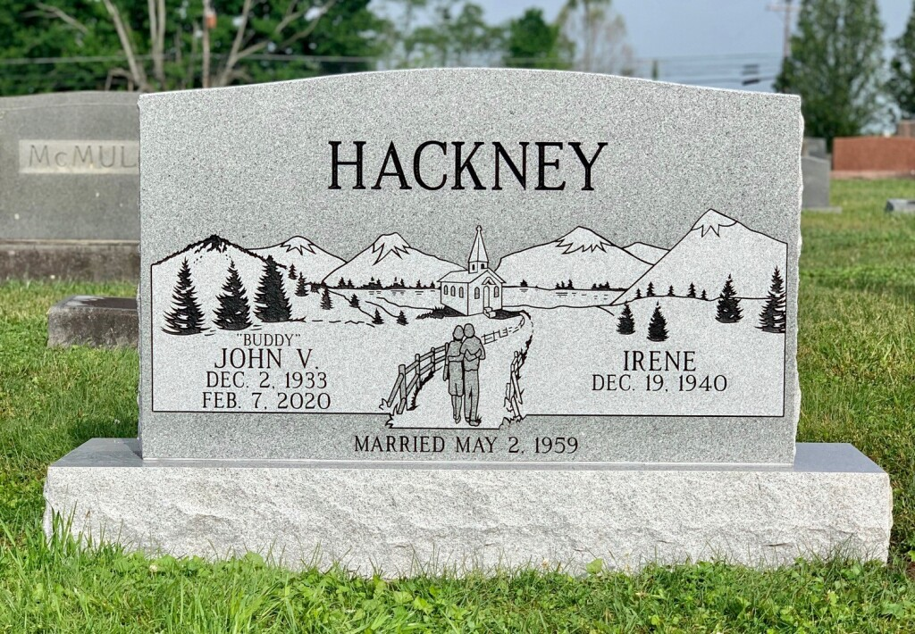 Headstone for John and Irene Hackney