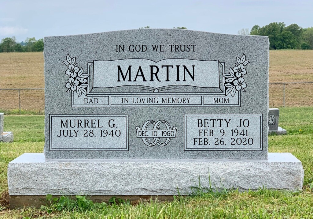 Headstone for Murrel and Betty Jo Martin