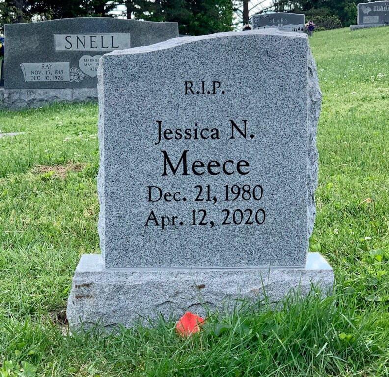 Headstone for Jessica Meece