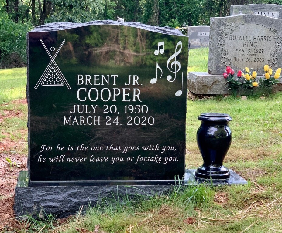 Headstone for Brent Cooper