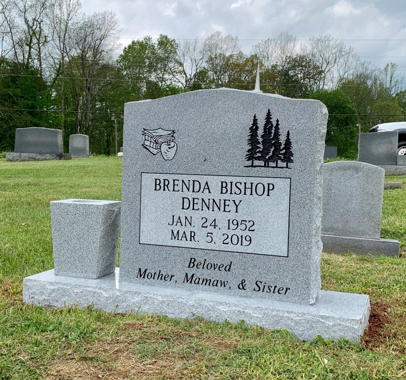 Headstone for Brenda Bishop Denney