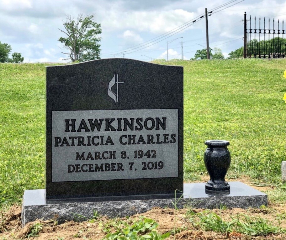 Headstone for Patricia Hawkinson