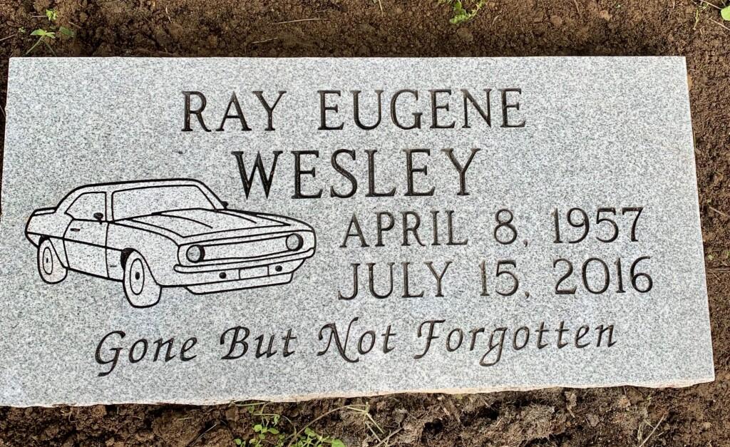 Flat marker for Ray Eugene Wesley