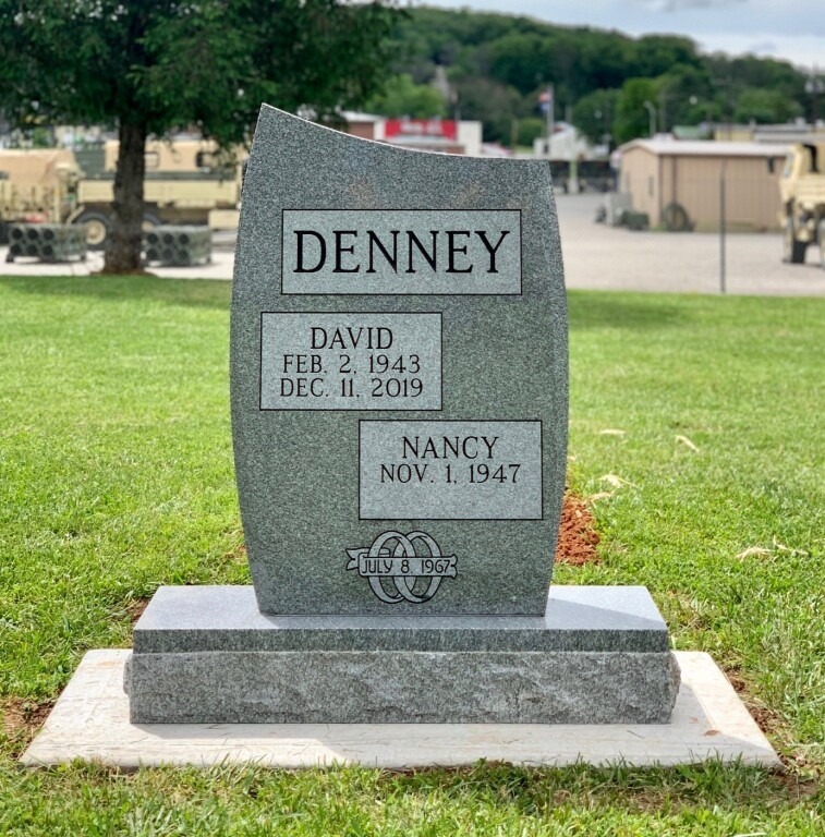 Headstone for David and Nancy Denney